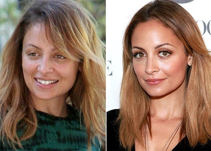 Nicole Richie, filha adotiva de Lionel Richie, muda um pouco sem maquiagem