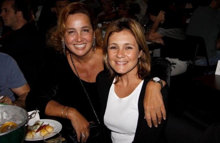 Claudia e Adriana Esteves se encontram no show da cantora Maria Gadú, no Rio (1/5/10