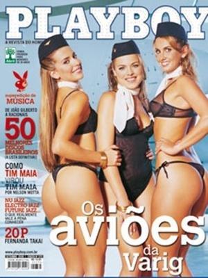 Setembro de 2006 - Sabrina, Juliana e Patrícia, aeromoças da Varig