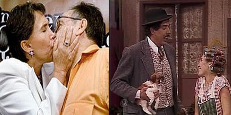 Apesar do par romântico mais famoso do seriado ser vivido por Dona Florinda e Profº Girafales (dir), na vida real, Florinda Meza é casada com Roberto Bolaños, o Chaves (esq).