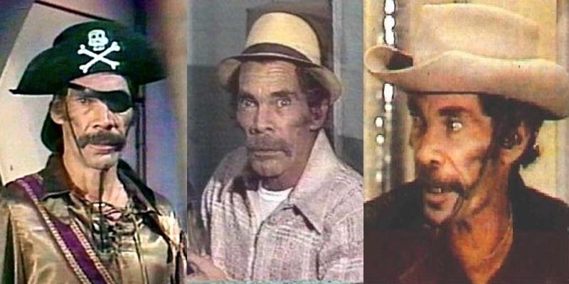 """Em """"Chapolin"""", Rámon interpretava diversos personagens em sua maioria bandidos, como os inequecíveis, Alma Negra, Tripa Seca e o Racha Cuca."""