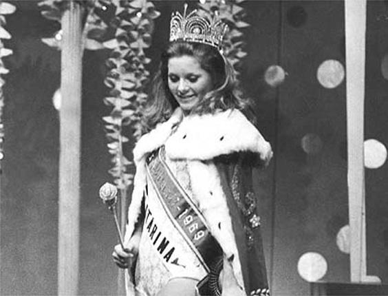 Vera Fischer aos 18 anos, quando foi eleita Miss Brasil (1969)