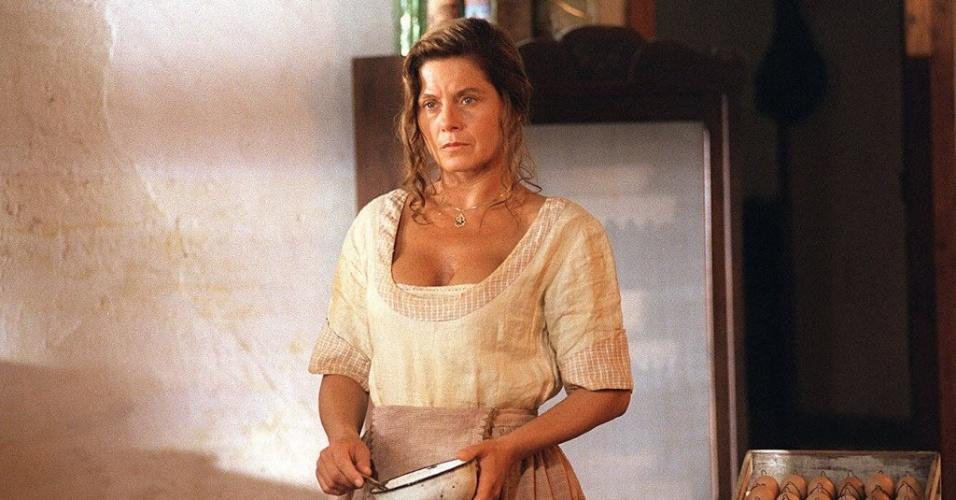 """Vera Fischer durante gravação da novela """"O Rei do Gado"""" (14/4/96)"""