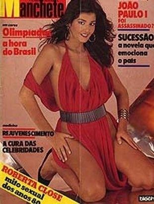"""Roberta Close estrelou ensaios e capas de muitas revistas nos anos 80, como a antiga """"Manchete"""""""