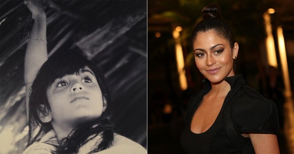 """13.dez.2012 - A atriz Carol Castro divulgou no Twitter uma imagem de sua infância. """"Do fundo do baú: infância em Natal... (Da série memórias em preto e branco.)"""", escreveu na legenda da foto"""