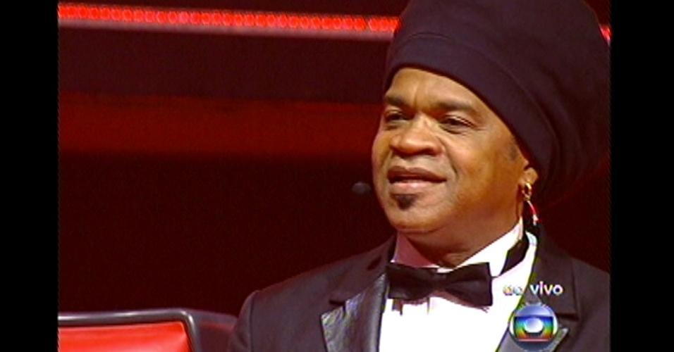 16.dez.2012 - Carlinhos Brown começa seu tradicional 'discurso de escolha'