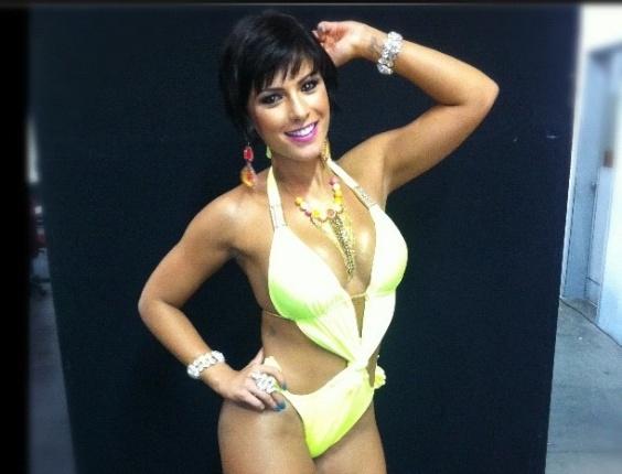 """30.dez.2012 - Bárbara Rossi posta foto no Instagram durante a gravação do programa """"Pânico"""" na Band"""