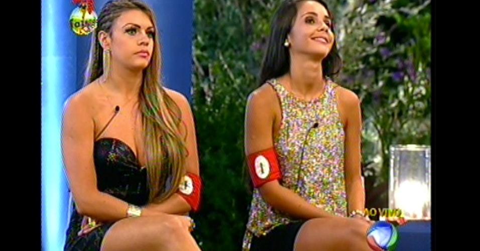 Flávia e Manoella formam a roça desta semana. Elas foram escolhidas para se enfrentar pelo peão Victor, que com o envelope dourado teve imunidade e o poder de escolher quem iria formar a roça