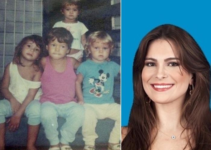 """31.jan.2013 - Kamilla Salgado (primeira à esquerda), do """"BBB13"""", com os primos durante a infância em Mosqueiro, no Pará. Será que a sister já gostava de cantar como faz no confinamento?"""