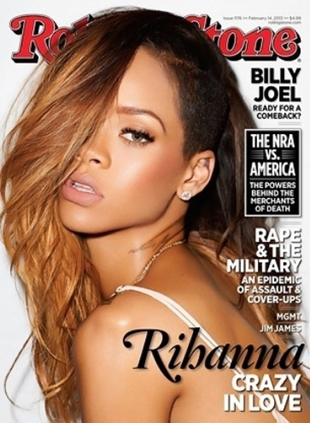 5.fev.2013 - Rihanna aparece esbanjando sensualidade na capa de fevereiro da revista norte-americana &#34;Rolling Stone&#34;. O ensaio provocante foi assinado pelo fot&#243;grafo Terry Richardson