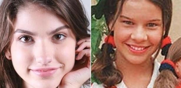 """A atriz Giovanna Grigio (à esquerda) foi a escolhida para interpretar Mili em """"Chiquititas"""", papel que já foi de Fernanda Souza"""