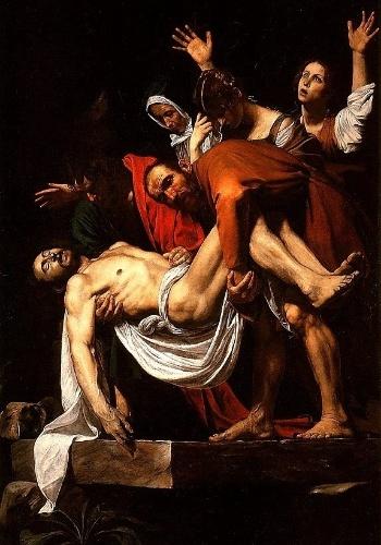 """""""Deposição de Cristo"""" é o nome do quadro pintado por Caravaggio entre 1600 e 1604. A obra também é conhecida como """"Enterro de Jesus"""" e é um exemplo de uma das principais características do artista, o uso dramático de luz e sombra. O quadro está exposto na Pinacoteca Vaticana"""