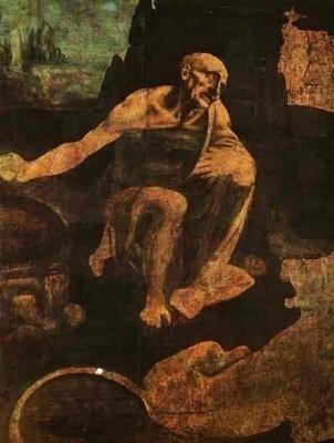 """""""São Jerônimo"""", pintado por Leonardo da Vinci, está na Pinacoteca do Vaticano"""