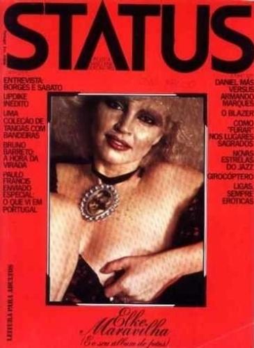 "Junho.1975 - Elke Maravilha estampa a capa da revista ""Status"""