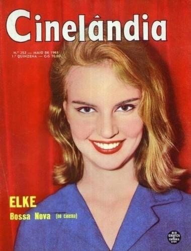 """Maio.1961 - Elke Maravilha estampa a capa da revista """"Cinelândia"""""""