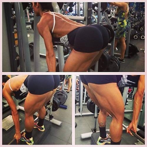 Treino de musculação da modelo Gracyanne Barbosa, 29, que ela postou no Instagram