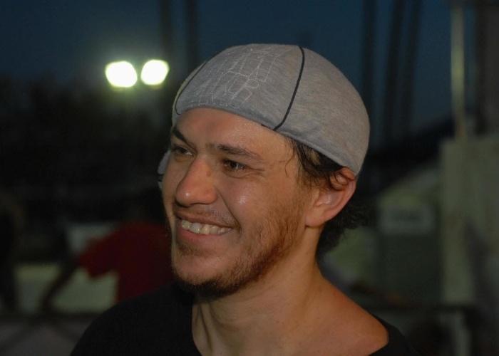 20.jan.2008 - Chorão comparece ao Campeonato de Skate Street, realizado na cidade Madre de Deus, região metropolitana de Salvador (BA)