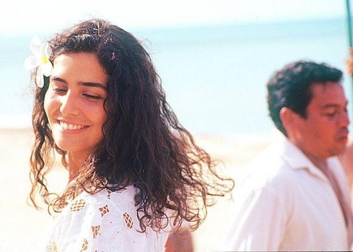 """22.jun.1997 - A atriz Letícia Sabatella durante a gravação do filme """"Bela Donna"""", dirigido por Fábio Barreto"""