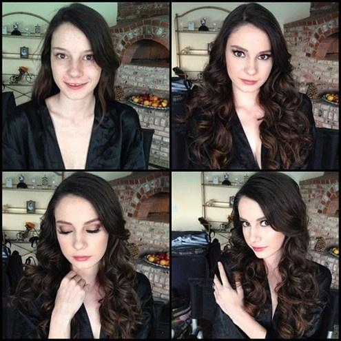 Ensaio fotográfico mostra atrizes pornô antes e depois da maquiagem