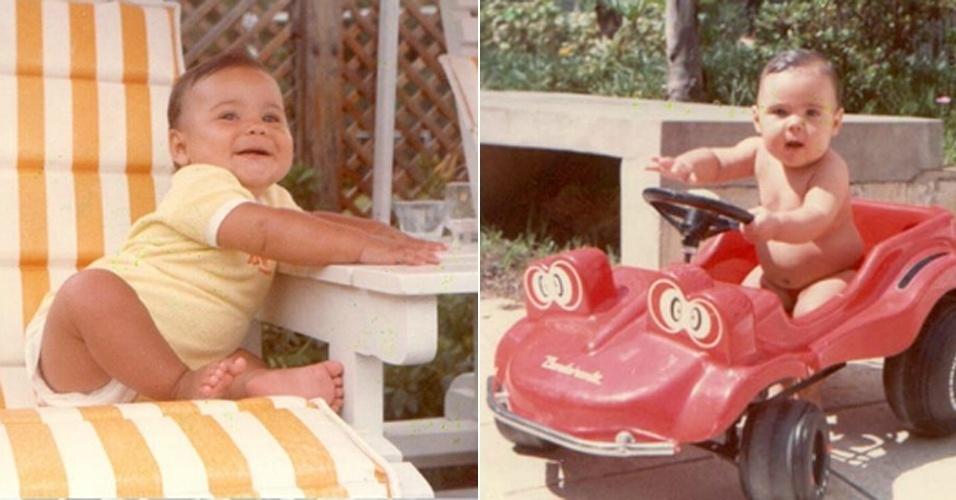 1981 - Felipe Massa posa para as primeiras fotos