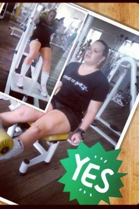 30.abr.2013 - A ex-BBB Paulinha finalmente está em paz com o espelho. Depois de pegar pesado na malhação e dieta, ela perdeu 11 kg; a meta da loira é emegrecer 32kg ao todo. Quando chegou ao seu limite - Paulinha chegou a pesar 96 kg mas, agora, com 85kg, ela voltou a usar modelitos curtinhos no melhor estilo periguete