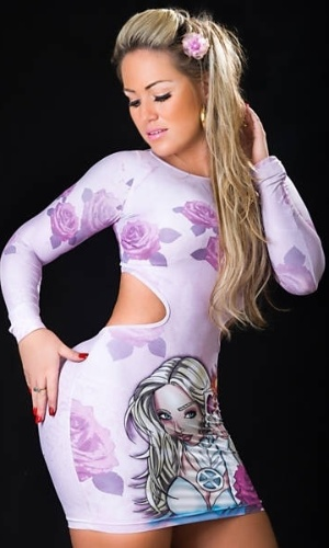 30.abr.2013 - A ex-peoa da 'Fazenda de Verão' e modelo, Ísis Gomes, 27, está se aposentando dos ensaios sensuais. E para se despedir em grande estilo, a gata publicou suas últimas fotos ousadas, nas quais aparece com roupas coladas ao corpo, ressaltando suas curvas