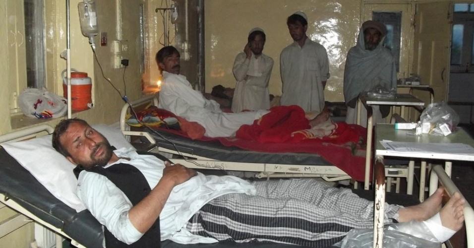 Segunda-feira (6.mai.2013) - Segunda-feira (6.mai.2013) - Um homem-bomba atacou um comício eleitoral organizado por um partido religioso, matando 25 pessoas, no noroeste do Paquistão, disseram autoridades