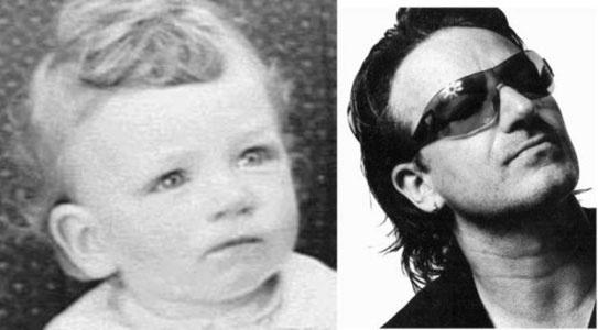 10.mai.2013 - Bono Vox é um dos mais influentes cantores da atualidade. Vocalista da banda U2, ele completa 53 anos nesta sexta-feira. Relembre a carreira do cantor, que é comprometido com as causas sociais. Na foto à esq., Bono bebê, em 1961, e à dir., ele em 2011