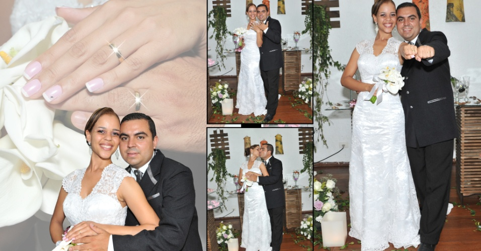 """Luana Paiva e Marcos Lopes se casaram no dia 27 de outubro de 2012, em Guarulhos (SP). """"Definimos nosso casamento com inesquecível"""", relata a noiva."""