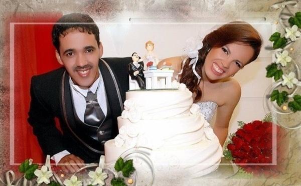 """Marconi Feliciano e Andreilza Michelly se casaram em Belo Jardim (PE), no dia 4 de setembro de 2010. """"O dia mais feliz da minha vida foi o dia do meu casamento"""", afirma a noiva."""