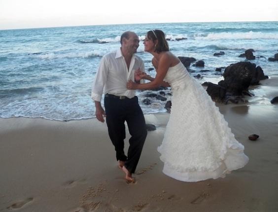 Alfredo Barroso e Nina Abreu se casaram em Cabo de Santo Agostinho (PE), no dia 21 de fevereiro de 2013.