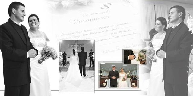 """O casamento do Valdenir Dias Viana e Andréia de Oliveira foi em Passo Fundo (RS), no dia 20 de fevereiro de 2010.""""Um dos dias mais especiais da minha vida"""", revela a noiva."""