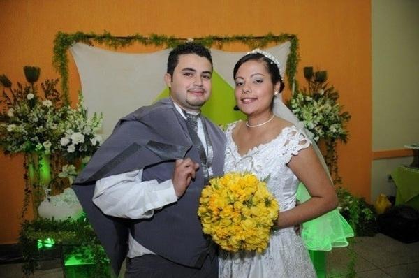 Anderson Hamilton Pereira e Andreia Alves Pereira, de Santo André (SP), se casaram em 29 de agosto de 2009.
