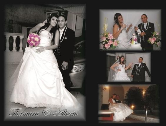 """O casamento de Alberto Flavio Tertulino de Oliveira e Thamara Caroline da Silva Oliveira foi em São Bernardo do Campo (SP), no dia 2 de fevereiro de 2013. """"Um dia muito feliz após cinco anos de namoro de escola"""", relata o noivo"""