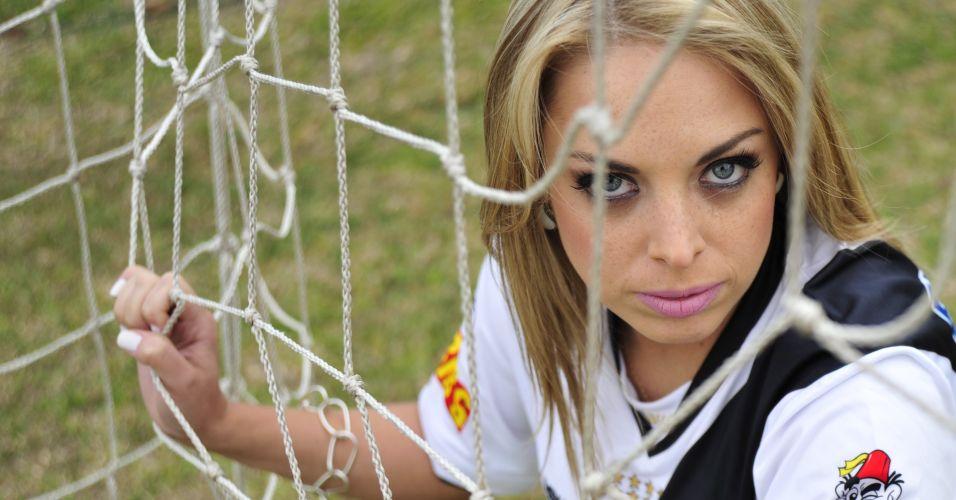 Jéssica Lopes é a musa que estampa o time do Vasco no concurso Musa do Brasileirão 2011.