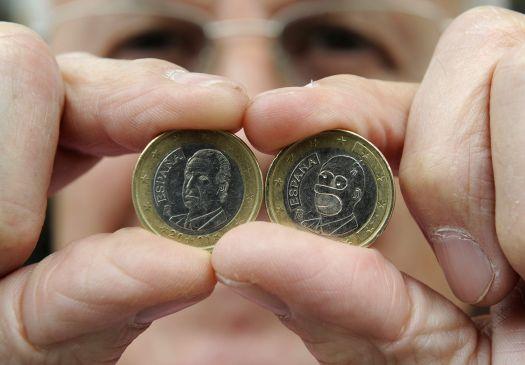 homer na moeda de euro