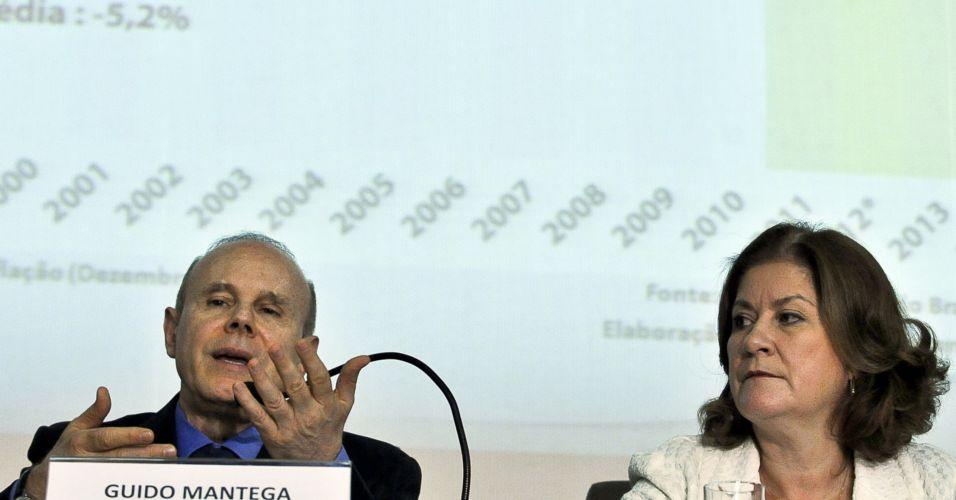 Quarta-feira (15/2) - O ministro da Fazenda, Guido Mantega, afirmou nesta quarta-feira (15) que estão previstas mais reduções tributárias neste ano, logo após anunciar um corte de R$ 55 bilhões no Orçamento deste ano. Entre essas reduções, afirmou ele, está a desoneração da folha de pagamento, que diminuirá o custo de produção para manufaturados.