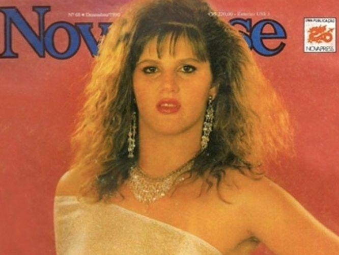 Quinta-feira (8/3) - Em 1990, Val Marchiori foi capa da revista paranaense 'Nova Fase', com cabelos mais escuros e crespos. Ainda conhecida como Valdirene, ela usou apenas um véu sobre os seios. A imagem foi postada por José Ivaldece Pereira, diretor de redação da revista.