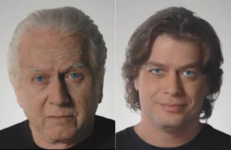 Segunda-feira (12/3) - O ator Fabio Assunção, 40, aparece bem velhinho em um comercial de uma associação pró-idoso, a Velho Amigo. O vídeo mostra o ator global rejuvenescendo à medida em que ele fala palavras de carinho aos idosos.