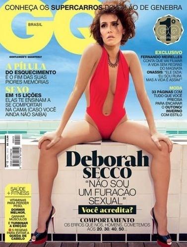 """A atriz Deborah Secco afirmou em entrevista à revista """"GQ"""": """"Não sou o furacão sexual que acham que eu sou. Eu sempre acreditei no amor, sempre quis ter uma família. Na verdade, sou bem mulherzinha,"""" disse a atriz"""