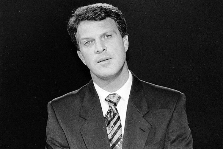 Pedro Bial em foto de 1995
