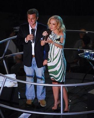Ao lado de Huck, Angélica comandou a edição 2009 do show 'Criança Esperança' (22/8/09).