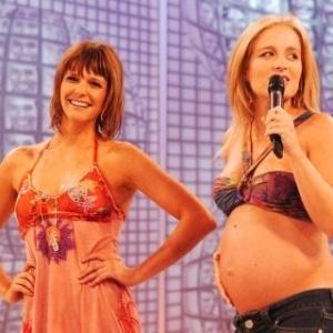 Na primeira gravidez, Angélica foi substituída no 'Vídeo Game' por Fernanda Lima. A loira esperava Joaquim, que nasceu no dia 8 de março de 2005. Depois, na segunda gestação, Fernanda voltou a substituí-la.