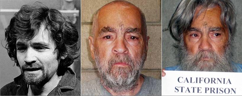 Condenado à prsião perpétua, o serial killer Charles Manson está preso desde 1969 nos Estados Unidos. Pelas fotos, é possível ver as mudanças físicas do assassino