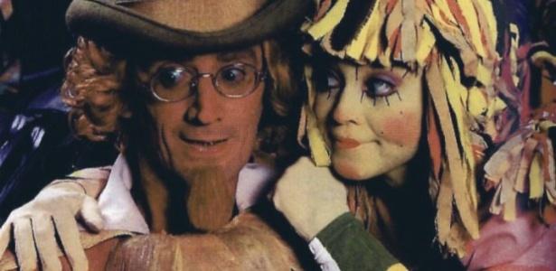 Visconde de Sabugosa (interpretado por André Valli) e Emília (Suzana Abranches) na versão de Sítio do Picapau Amarelo para a Rede Globo
