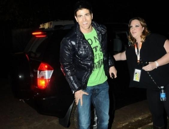 Reynaldo Gianecchini chega ao festival de música eletrônica Ultra Music na Chácara do Jockey em São Paulo (6/11/10)