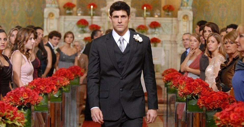 """Reynaldo Gianecchini na cena em que Fred é abandonado no altar, em """"Passione"""" (julho/2010)"""
