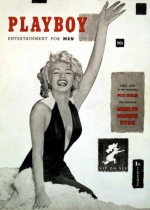 """Capa da primeira """"Playboy"""" teve Marilyn Monroe como destaque, em 1953 - Reprodução"""