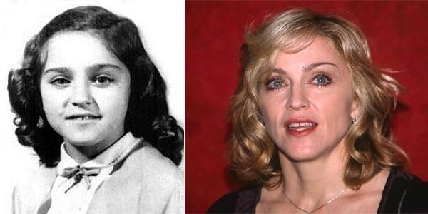 A foto em branco e preto não é a filha da cantora Madonna! É ela mesma, com a aparência quase idêntica à de Lourdes Maria quando criança