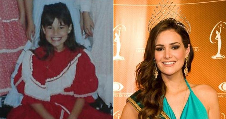 A gaúcha Priscila Machado, ex-Miss Brasil, já posava com jeito de modelo desde pequena